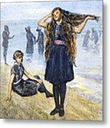 Womens Fashion, 1886 Metal Print