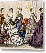 Womens Fashions From Godeys Ladys Book Metal Print by Everett