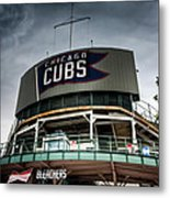 Wrigley Field Bleachers Metal Print