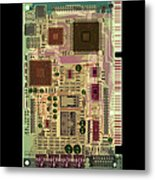 X-ray Of Sound Card Metal Print by D. Roberts