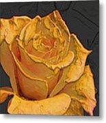 Yellow Rose Art Metal Print