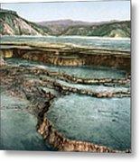 Yellowstone: Hot Spring Metal Print