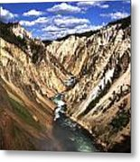 Yellowstone River Below Lower Falls  Metal Print