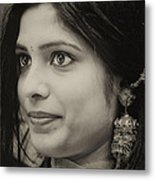 Young Woman India Day Parade Nyc 2012 Metal Print