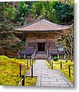 Zen Garden At A Sunny Day Metal Print