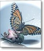 Butterfly Collection Design Metal Print