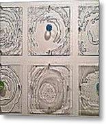 10 Panel Ripple Effect Installation Metal Print