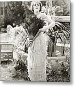 Silent Film Still: Woman Metal Print
