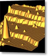 Spintronics Research, Stm Metal Print by Drs A. Yazdani & D.j. Hornbaker