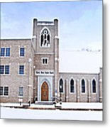 1001-0369 Cherry Street Baptist Of Clarksville Metal Print by Randy Forrester