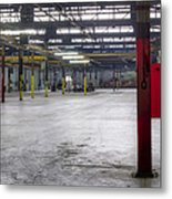 An Empty Industrial Building In Los Metal Print by Dan Kaufman