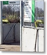 Recycling Centre Metal Print