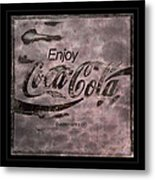 Coca Cola Sign Grungy Retro Style Metal Print