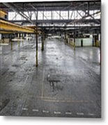 An Empty Industrial Building In Los Metal Print