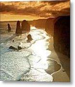 12 Apostles At Sunset Metal Print