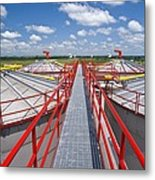 Corn Ethanol Processing Plant Metal Print by David Nunuk