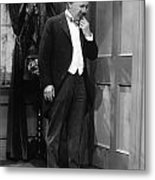 Silent Still: Single Man Metal Print