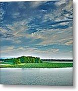 1206-9119 Arkansas River At Spadra Park  Metal Print