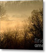 Misty Mountain Sunrise Metal Print
