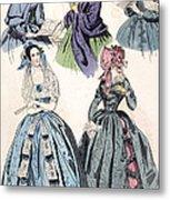Womens Fashion, 1842 Metal Print