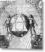 Alchemy Illustration Metal Print