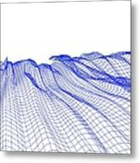 Abstract Line Pattern Metal Print