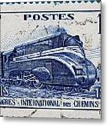 old French postage stamp Metal Print