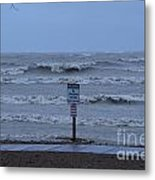 Hurricane Sandy Metal Print