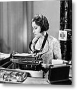 Silent Film Still: Offices Metal Print