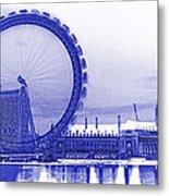 London Eye Art Metal Print