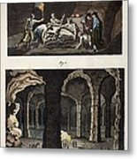 1770 Maastricht Mosasaur Discovery Metal Print