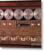 17th Century Calculating Machine Metal Print