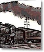 1800's Steam Train Metal Print