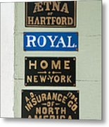 1825 Insurance Agency Metal Print