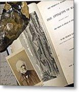 1863 Lyell's Antiquity Of Man Desktop. Metal Print
