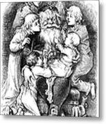 Thomas Nast: Santa Claus Metal Print by Granger