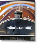 1913 Pathfinder Touring Hood Ornament Metal Print