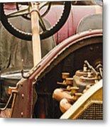 1914 Mercer Model 35 J Raceabout Engine And Steering Wheel Metal Print