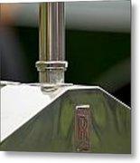 1914 Rolls-royce Silver Ghost Hood Ornament Metal Print