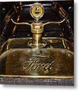 1915 Model-t Ford Hood Ornament Metal Print