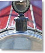 1919 Pierce-arrow Model 48 Dual Valve Roadster Hood Ornament Metal Print