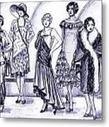 1920s British Fashions Metal Print