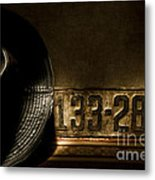 1922 License Metal Print by Ron Hoggard