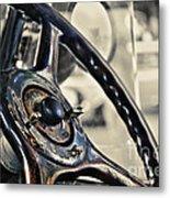 1924 Packard - Steering Wheel Metal Print