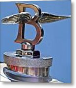 1927 Bentley 6.5 Liter Sports Tourer Hood Ornament Metal Print
