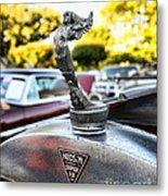 1928 Hudson Super Six Roadster Hood Ornament Metal Print