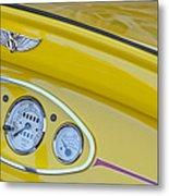 1929 Ford Model A Roadster Dashboard Instruments Metal Print