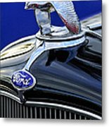 1932 Ford V8 Hood Ornament Metal Print