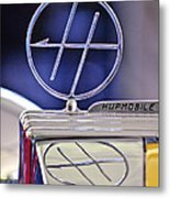 1932 Hupmobile Custom Roadster Hood Ornament Metal Print