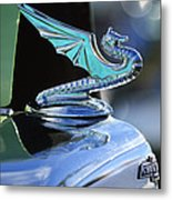 1934 Aftermarket Chevrolet Hood Ornament Metal Print